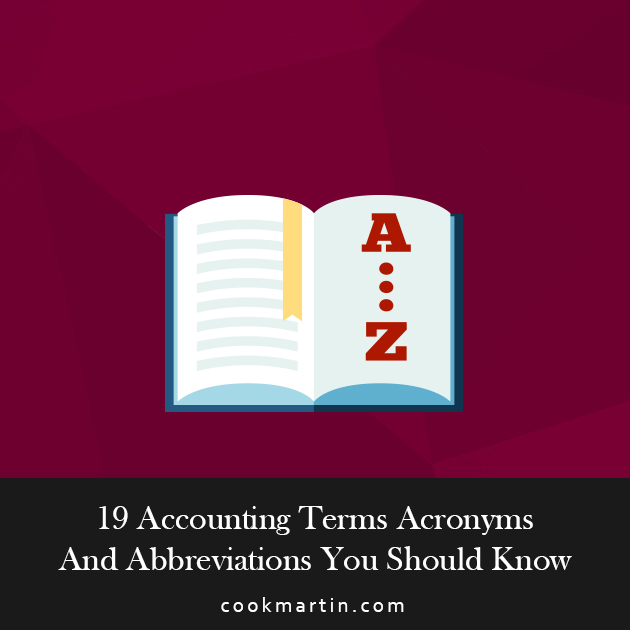 19 Accounting Terms Acronyms And Abbreviations You Should Know