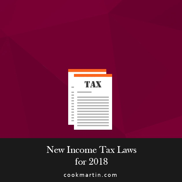 New Income Tax Laws for 2018