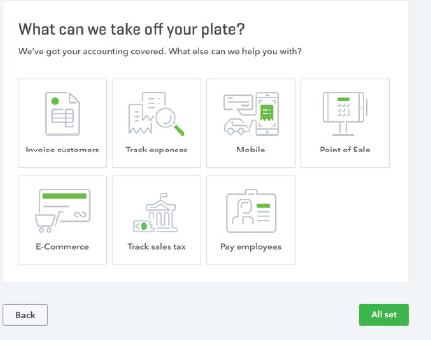 Quickbooks Online offer screen