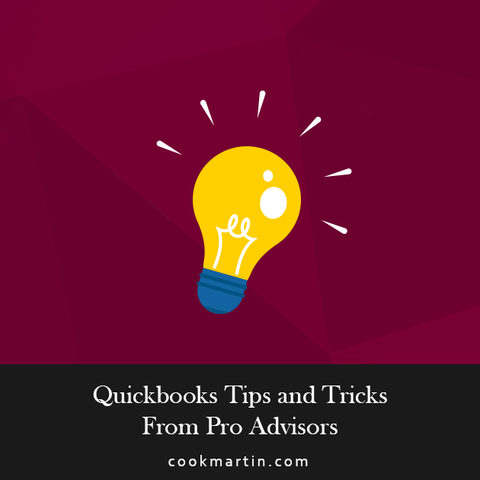 quickbooks tips and tricks from Pro Advisors